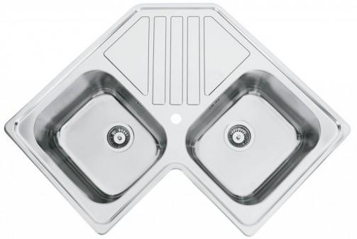 Nerezový dřez Sinks KEPLER 830 DUO V 0,7mm leštěný