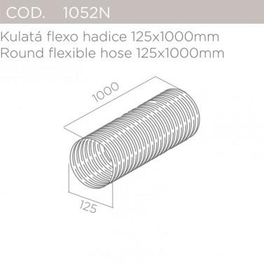 Kulatá flexo hadice 125x1000mm ELICA 1052N