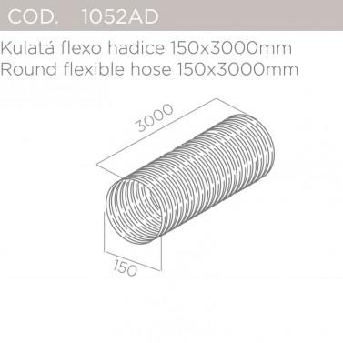 Kulatá flexo hadice 150x3000mm ELICA 1052AD