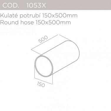 Kulaté potrubí 150x500mm ELICA 1053X