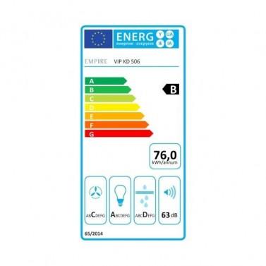 Digestor EMPIRE VIP KD 506060 energetický štítok