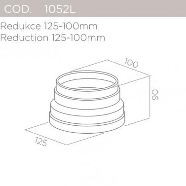Redukce 125-100mm ELICA 1052L