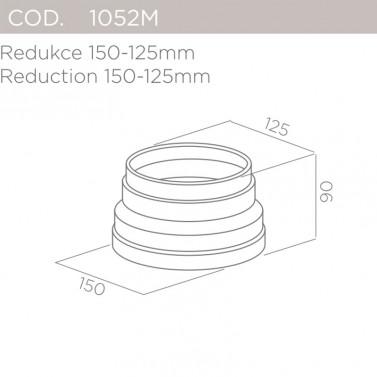 Redukce 150-125mm ELICA 1052M