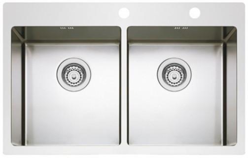 Nerezový dřez Sinks BOXER 755 DUO RO 1,2mm