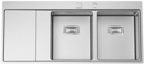 Nerezový dřez Sinks XERON 1160 DUO pravý 1,2mm