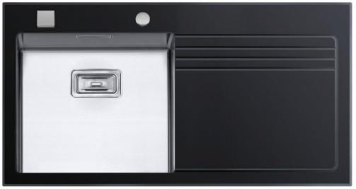 Sinks GLASS 1000 černý levý 1,2mm