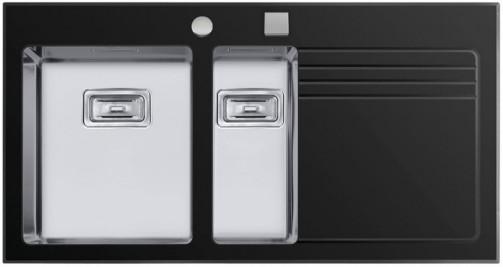 Sinks GLASS 1000.1 černý levý 1,2mm