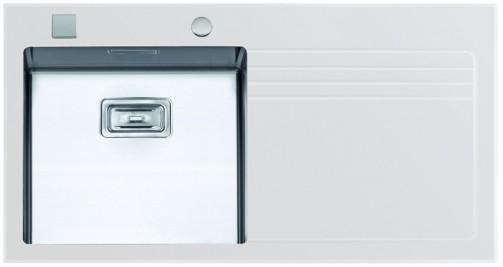 Sinks GLASS 1000.1 bílý levý 1,2mm
