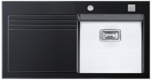 Sinks GLASS 1000.1 černý pravý 1,2mm