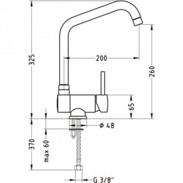 Technický nákres baterie