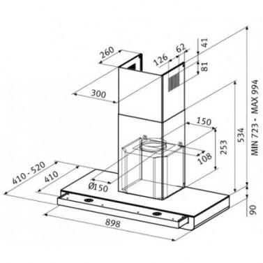 Nákres Franke FNES 907 BTH XS/Glass
