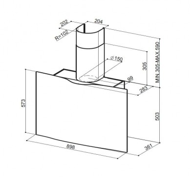 Technický nákres VEIL WH A90