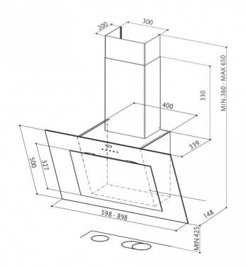 Technický nákres NORTHIA EG8 BK/X A60