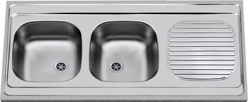 Nerezový dřez Sinks CLP-A 1200 DUO M 0,6mm matný