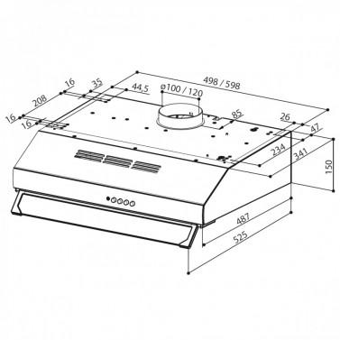 Technický nákres 2740 PB W A60