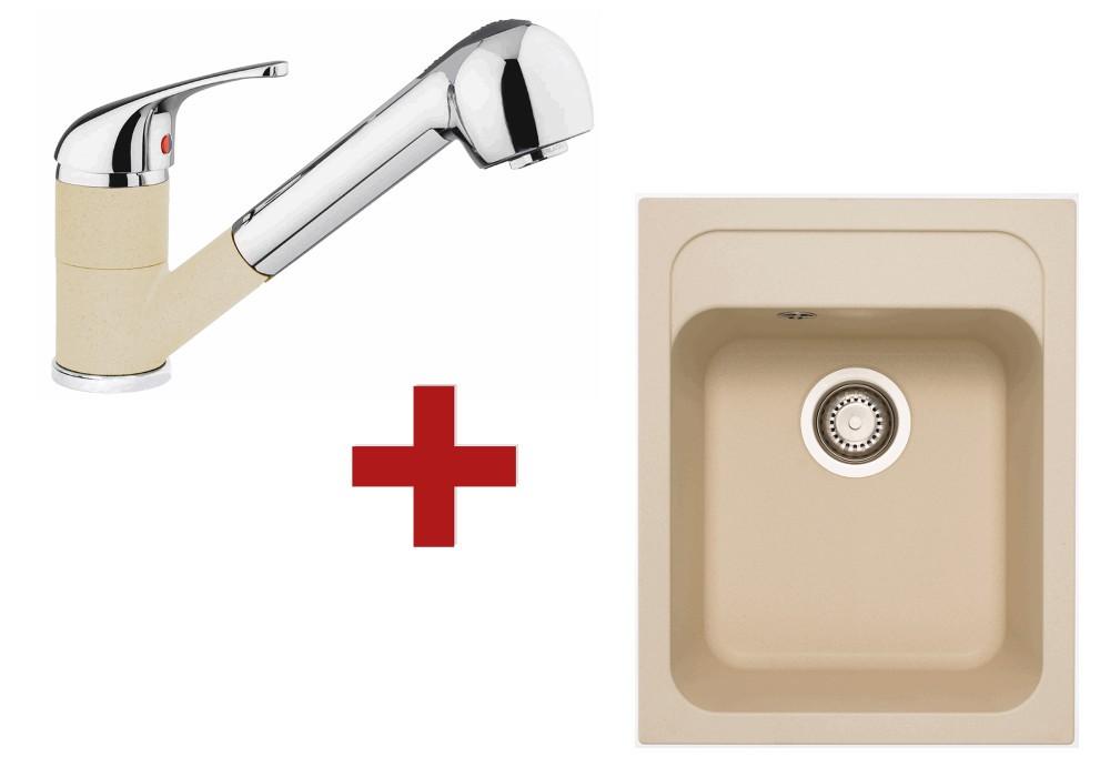 Sinks Classic 400 Sahara + Sinks Capri 4 S 50 Sahara