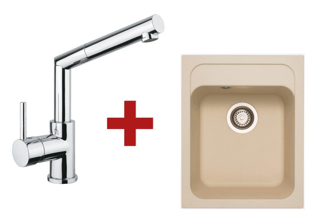 Sinks Classic 400 Sahara + Sinks Mix 350 P lesklá
