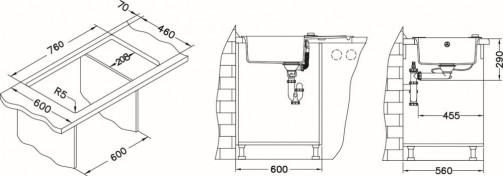 Granitový dřez Alveus Rock 130 montáž