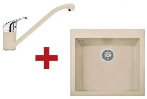 Sinks CUBE 560 Sahara + Sinks CAPRI 4 - 50 Sahara