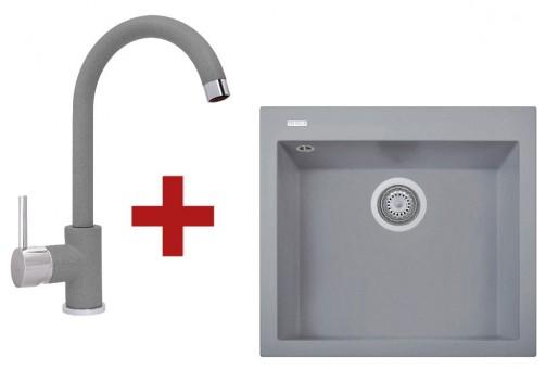 Sinks CUBE 560 Titanium + Sinks MIX 35 - 72 Titanium