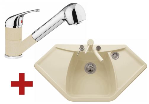Sinks NAIKY 980 sahara + Sinks CAPRI 4 S - 50 Sahara