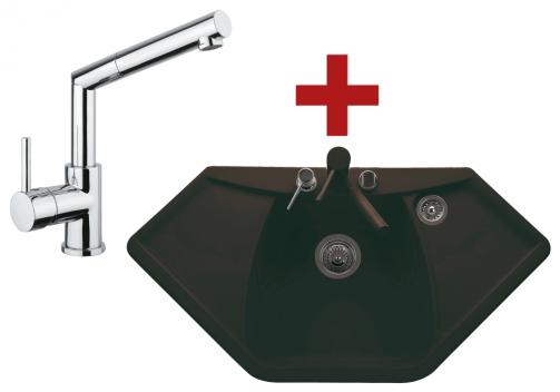 Sinks NAIKY 980 marone + MIX 350 P chrom
