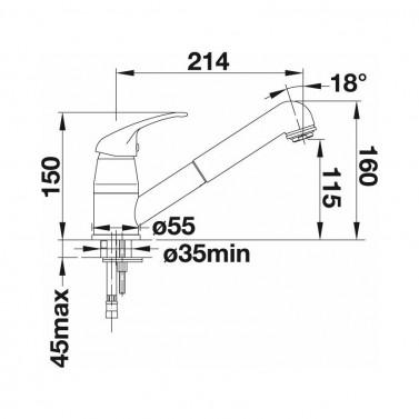 Dřezová baterie Blanco DARAS-S  chrom č.3