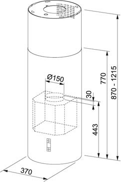 Nákres Franke FTU 3807 I XS 77 H V2